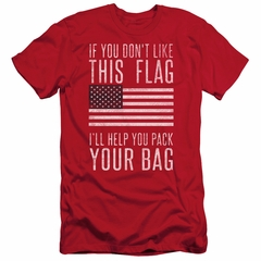 American Flag Slim Fit Shirt Pack Your Bag Red T-Shirt