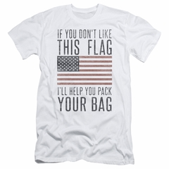 American Flag Slim Fit Shirt Pack Your Bag White T-Shirt