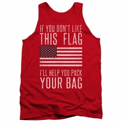 American Flag Tank Top Pack Your Bag Red Tanktop