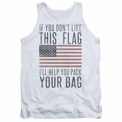 American Flag Tank Top Pack Your Bag White Tanktop