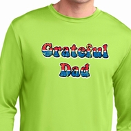 American Grateful Dad Mens Dry Wicking Long Sleeve Shirt