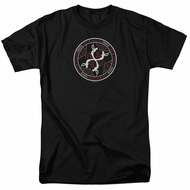 American Horror Story Coven Serpent Sigil Black Ringer Shirt