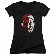 American Horror Story Juniors V Neck Shirt The Clown Black T-Shirt