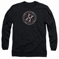 American Horror Story Long Sleeve Shirt Coven Serpent Sigil Black Tee T-Shirt