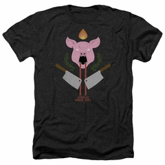 American Horror Story Shirt Pig Cleavers Heather Black T-Shirt