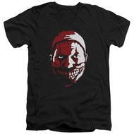 American Horror Story Slim Fit V-Neck Shirt The Clown Black T-Shirt