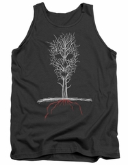 American Horror Story Tank Top Scary Tree Charcoal Tanktop