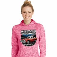 American Made Dodge Dart Ladies Moisture Wicking Hoodie
