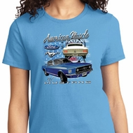 American Muscle 1967 Mustang Ladies Ford Shirts