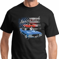 American Muscle Blue and Red Shirts