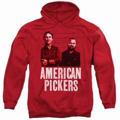 American Pickers Hoodie Picker Wood Pattern Red Sweatshirt Hoody
