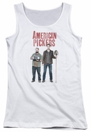 American Pickers Juniors Tank Top Mike And Frank White Tanktop