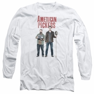American Pickers Long Sleeve Shirt Mike And Frank White Tee T-Shirt