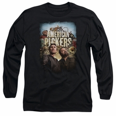 American Pickers Long Sleeve Shirt Picker Poster Black Tee T-Shirt