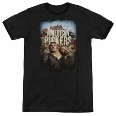 American Pickers Picker Poster Black Ringer Shirt
