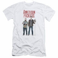 American Pickers Slim Fit Shirt Mike And Frank White T-Shirt
