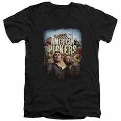 American Pickers Slim Fit V-Neck Shirt Picker Poster Black T-Shirt