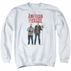American Pickers Sweatshirt Mike And Frank Adult White Sweat Shirt