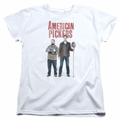 American Pickers Womens Shirt Mike And Frank White T-Shirt