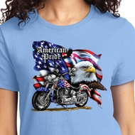 American Pride Motorcycle Ladies Biker Shirts