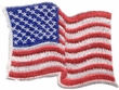 American T-Shirt USA Waving Flag Embroidered Patch Pocket Navy Blue