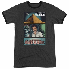 Ancient Aliens Comic Page Charcoal Ringer Shirt