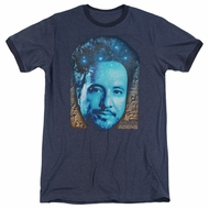 Ancient Aliens Giorgio Tsoukalos Navy Blue Ringer Shirt