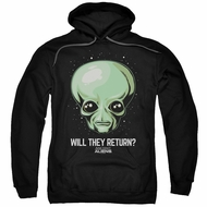 Ancient Aliens Hoodie Will They Return Black Sweatshirt Hoody