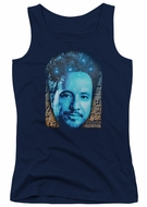 Ancient Aliens Juniors Tank Top Giorgio Tsoukalos Navy Blue Tanktop