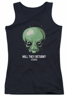 Ancient Aliens Juniors Tank Top Will They Return Black Tanktop