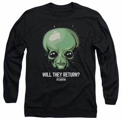 Ancient Aliens Long Sleeve Shirt Will They Return Black Tee T-Shirt