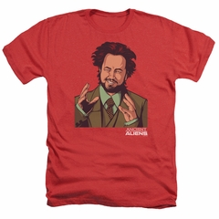 Ancient Aliens Shirt It Must Be Aliens Heather Red T-Shirt
