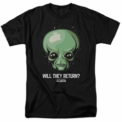 Ancient Aliens Shirt Will They Return Black T-Shirt