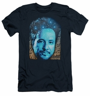 Ancient Aliens Slim Fit Shirt Giorgio Tsoukalos Navy Blue T-Shirt