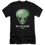Ancient Aliens Slim Fit Shirt Will They Return Black T-Shirt