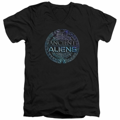 Ancient Aliens Slim Fit V-Neck Shirt Symbol Logo Black T-Shirt