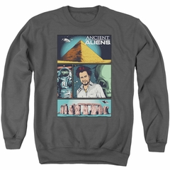 Ancient Aliens Sweatshirt Comic Page Adult Charcoal Sweat Shirt
