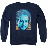 Ancient Aliens Sweatshirt Giorgio Tsoukalos Adult Navy Blue Sweat Shirt