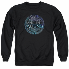 Ancient Aliens Sweatshirt Symbol Logo Adult Black Sweat Shirt