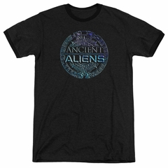Ancient Aliens Symbol Logo Black Ringer Shirt