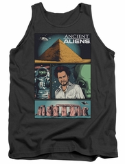 Ancient Aliens Tank Top Comic Page Charcoal Tanktop