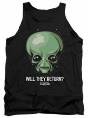 Ancient Aliens Tank Top Will They Return Black Tanktop
