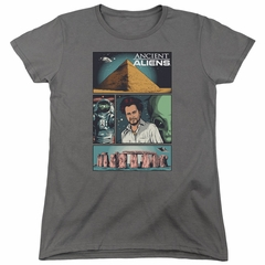 Ancient Aliens Womens Shirt Comic Page Charcoal T-Shirt