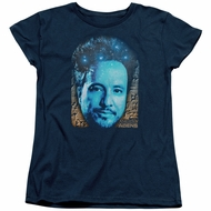 Ancient Aliens Womens Shirt Giorgio Tsoukalos Navy Blue T-Shirt