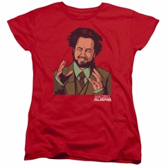 Ancient Aliens Womens Shirt It Must Be Aliens Red T-Shirt