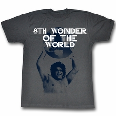 Andre The Giant Shirt 8th Wonder Charcoal T-Shirt