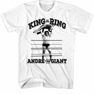 Andre The Giant Shirt King Of The Ring White T-Shirt