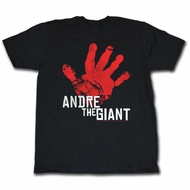 Andre The Giant Shirt Red Handed Black T-Shirt