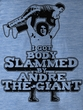 Andre The Giant Shirt Slammed Wrestling Light Blue Heather Adult Tee
