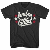 Andre The Giant Shirt Stars Black T-Shirt